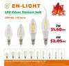 110lm/w cri80 2W 4W 6w 8w 220-240V E27 E14 led filament bulb,360 degree led bulb,edison led filament bulb
