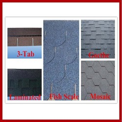 Colorful Asphalt Shingle in Plain Standard Tile