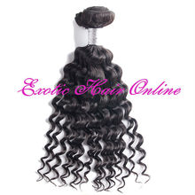 Exotichair ponytail curly hair extensions human hair wefts