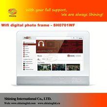 "Sh0701wf 7"" madera- como marco de fotos digital/digital de la imagen"