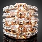 Mais recente projeto cristal de zircão de alta qualidade anel de diamante