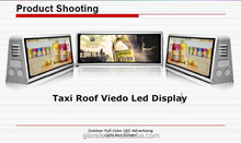 high brightness P5 led taxi top advertising