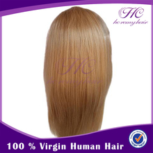 wig human hair full lace blonde real unprocessed human hair wig