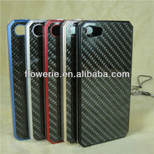 FL179 Knitting pattern Aluminum Carbon fiber combo frame case for iphone 5
