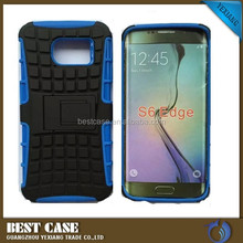 China supplier 2 in 1 Protective Case for Samsung S6 edge pc silicone