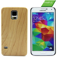 2015 Wholesale Wood Grain Flip Cover Wood Case For Samsung S5 , Wood Skin