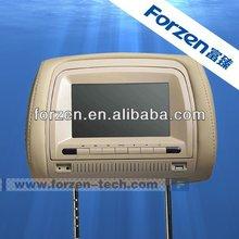 32 bit wireless games 7 inch TFT LCD DVD headrest car monitor car headrest manufacturers