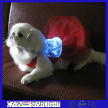 LED lighting fabric high fashion party costume pet grooming clothes for dog
