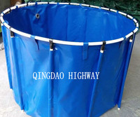 Flexible PVC circular fish tank for aquarium fish breeding farm