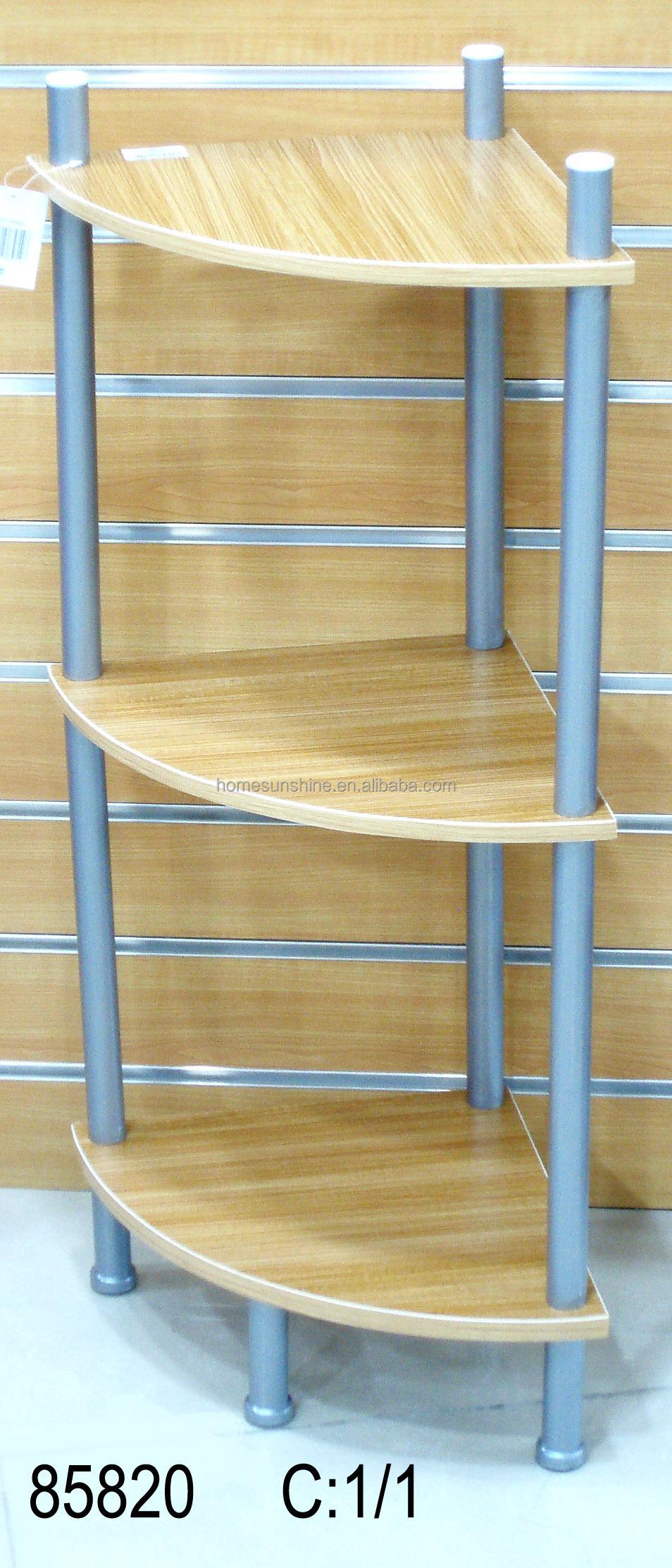 Houten frame en metalen hoek rek/coner plank 3 lagen andere ...
