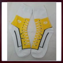 NOVELTY SNEAKER SHOE Pattern Design Casual Socks, Womens Sneaker Novelty Socks SNEAKERS Trainer Socks