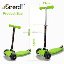 mini micro maxi foot patent nylon aluminum folding kids kick three wheel scooter