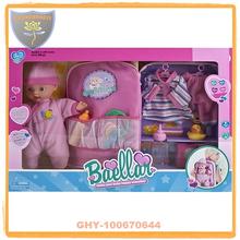 Muñecos del bebé 12 pulgadas con la mochila y la ropa
