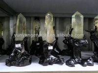crystal quartz yellow citrine gemstone wands point