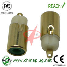 Qualitied green rca audio/video connector