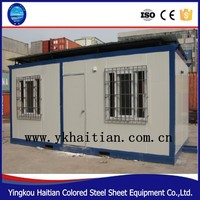 Steel structure prefabricated wooden house,sandwich panel house 20FT container house container living homes