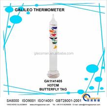 Verre artisanat haute borosilicate verre galileo thermomètre GA1141405 papillon TAG