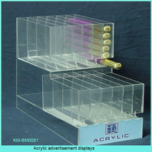 Counter Acrylic advertisement candy displays,acrylic chewing gum display