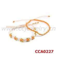 CCA0227 Yiwu factory CC 18k gold copper nugget wholesale popular fashion hand woven bracelets