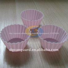pequeñas de color rosa de silicona para hornear la torta de la taza