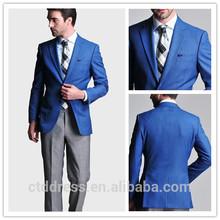 de alta calidad de último diseño hecho a medida de lona la mitad de la mano de obra de un solo pecho caballero traje de negocios