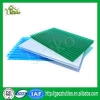 Excellent heat insulation colored twin-wall pc sheet for greenhouse skylights for sale