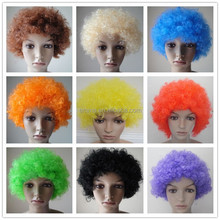 Rainbow Afro Clown Child Adult Costume Football Fan Fancy festival wig Halloween Party Wig W5025