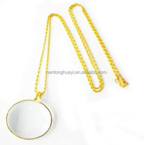 HY057 necklace type magnifier,pretty outlook magnifier,Pandent PMMA magnifying glass