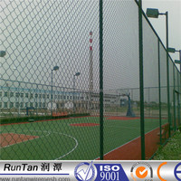 China manufacturer ISO9001-2008 Chain Link Fence for sports court