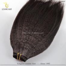 Best Price Good Feedback Best Quality No Shedding Full Cuticle Double Weft finest quality afro curly human hair virgin indian