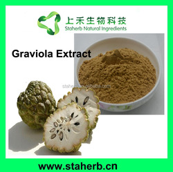 Manufacturer Supplier Graviola Fruit Extract Powder/Soursop Extract/ graviola fruit P.E.