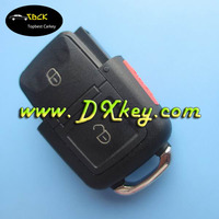 Topbest plastic key fob case for vw key vw key shell 2+1 buttons