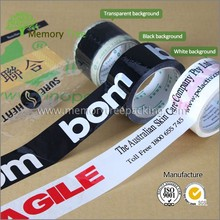 Good Viscosity BOPP Packing Tape Custom Printed LOGO Super Clear Sellotape