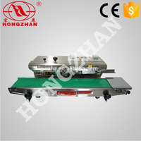Hongzhan CBS/DBF series fixed date auto continuous plastic bag sealer with CE