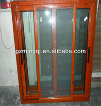 color of red cherry Aluminium sliding window with patterned glass,aluminium windows with mosquito net