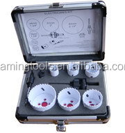 Special factory supply bi-metal hole saw set in blow case