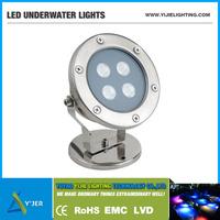 YJS-0003 IP68 4W RGB 12V DC underwater LED boat light