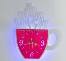 clock led cup shape led light digital wall clock lighted dial wall clock