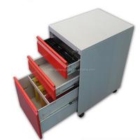 commercial OEM furniture 3 drawer movable file cabinet