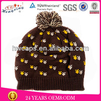 2014 New Style Fashion Jacquard Pattern Ladies Knitted Hat
