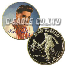 Old and Beautiful Style Elivs Presley Custom Souvenir/ Custom Coin