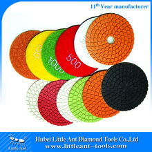 Power Tools Exporter selling 100mm wet Diamond Buff pads for egnieered stones