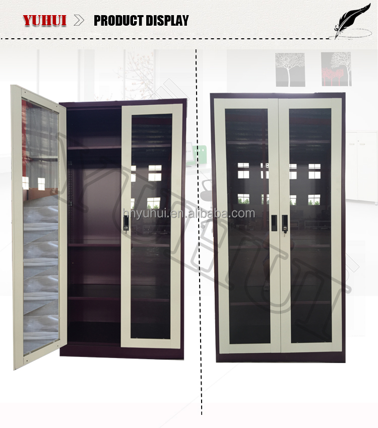 Metal Wardrobe Closet Glass Sliding Door Sliding Glass Door