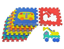 Transportation Puzzles Play Mat 9-tile EVA Foam Rainbow Floor