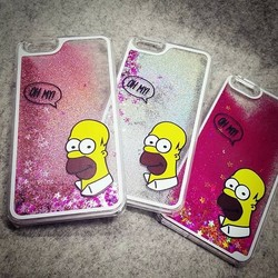 Hard plastic Case for iPhone 6s,Simpson liquid hard case cover for iphone 6s