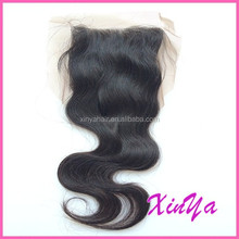 Factory Wholesale Price Bleached Knots virgin indian closures