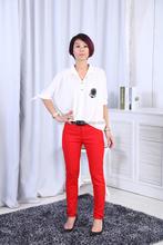 Detallada apretado trasero largo Formal Ladies mujer <span class=keywords><strong>pantalones</strong></span> china flaco pantalón