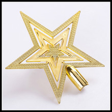 Custom christmas tree ornaments golden star decorations for top of christmas tree
