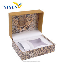 Personalized custom luxury plastic watch box with tiger pattern