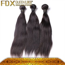 Hot selling make full head 3pcs 14 inch brazilian hair extension